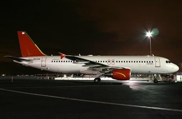N623VA rests overnight at the gate at the San Francisco base.  Copyright Photo: Mark Durbin.