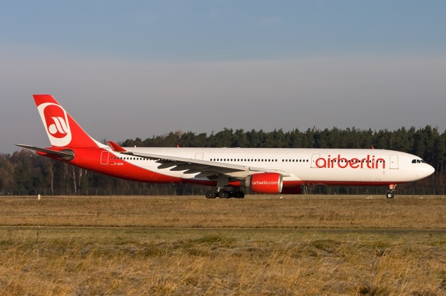 LTU's Airbus A330-322 D-AERK (msn 120) operates in Airberlin's new 2008 livery at Nuremberg.  Copyright Photo: Gunter Mayer.