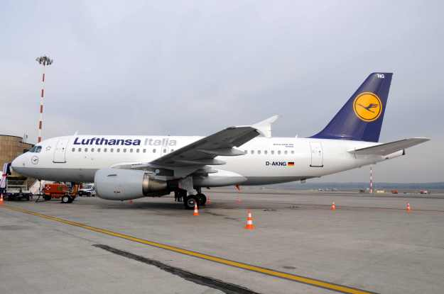 Lufthansa's Airbus A319-112 D-AKNG (msn 654) is pictured at the gate at MXP with the Lufthansa Italia titles.  Copyright Photo: Marco Finelli.