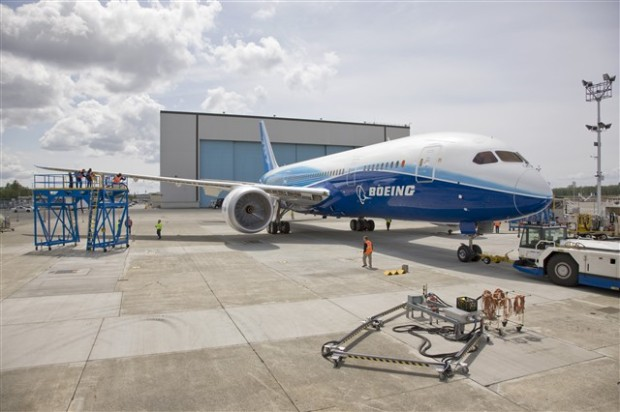 Photo: Boeing 787-881 N787BA is again outside the hangar at PAE. (Boeing)