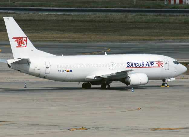 Saicus Air is the new trading name for Flyant Cargo after its sale to New Iberital. The company is operating two Boeing 737-300Fs, one of them has been fully repainted into new colors. Ex-US Airways 737-301 (F) EC-JUV (msn 23741) is pictured at Palma de Mallorca. Copyright Photo: Javier Rodriguez.