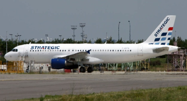 Airbus A320 F-GSTS has been painted in the new Strategic brand at Toulouse.  Copyright Photo: Eurospot.