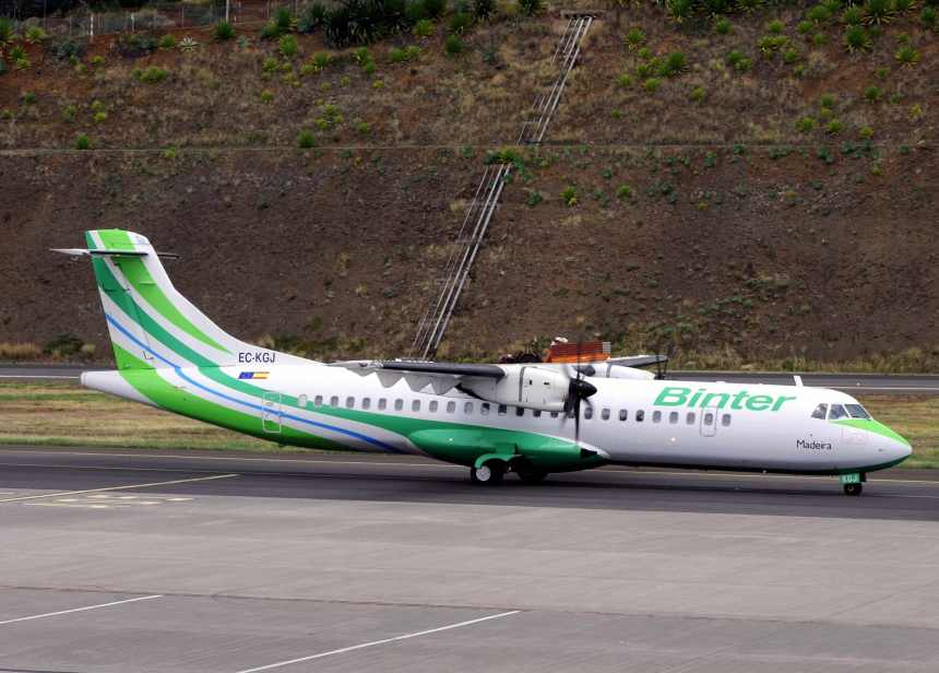 EC-KGJ taxies at Madeira for the formal naming ceremony.  Copyright Photo: Marco Finelli.