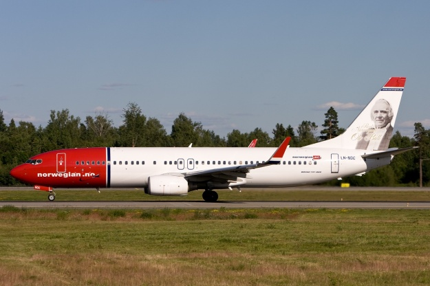 Norwegian.no's Boeing 737-81Q LN-NOC (msn 30785) with a photo image of Norwegian Ole Bull on the tail is pictured at the Oslo (Gardermoen) hub.  Copyright Photo: Gunter Mayer.