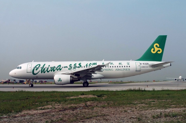 Airbus A320-214 B-6320 (msn 1686) of Spring Airlines is pictured at Toronto.  Copyright Photo: TMK Photography.