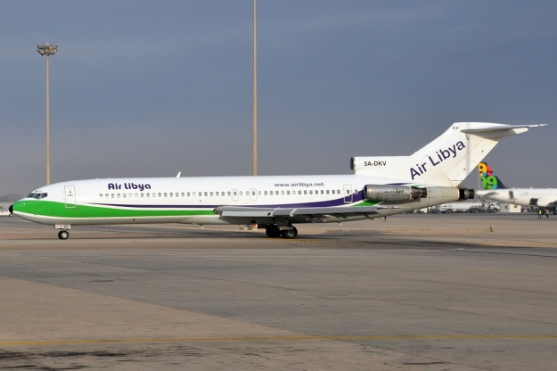 Looking immaculate after repainting, 5A-DKV taxies at Tripoli.  Copyright Photo: Chris Smith.