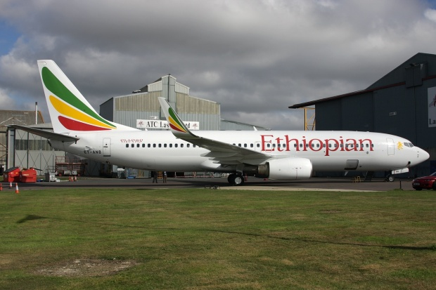 "Ethiopian Airlines' ""new"" Boeing 737-8AS ET-ANB (msn 29935, ex EI-CSW) is pictured at Lasham before it departed on September 13.  Copyright Photo: Antony J. Best."