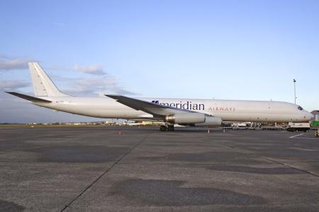 McDonnell Douglas DC-8-63 (F) 9G-AXD (msn 45927) displays the new identity at Ostend/Brugge.  Copyright Photo: Rainer Bexten.