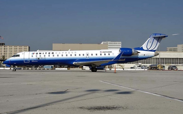 Skywest Airlines' Bombardier CRJ700 (CL-600-2C10) N743SK (msn 10199) rests between assignments at the Los Angeles hub.  Copyright Photo: Roy Lock.