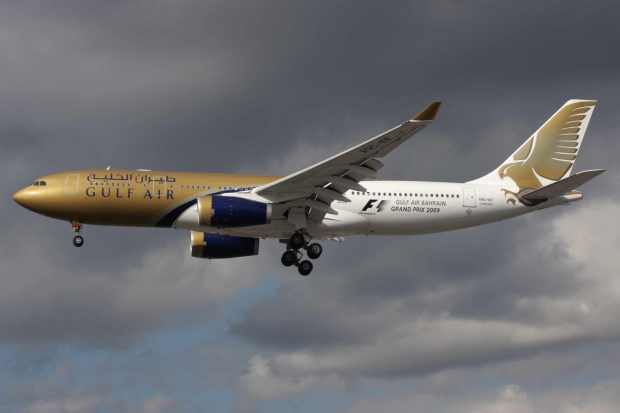 Gulf Air A330-200 A9C-KF (03-Grand Prix 2009)(Apr) LHR (A6)(LR)