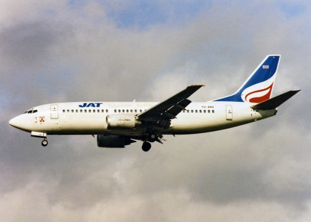 Copyright Photo: Keith Burton.  YU-ANV when it was painted in the 1994 color scheme.