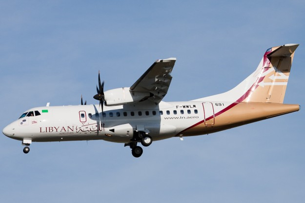 Copyright Photo: Guillaume Besnard/gbphotoworks.net.  ATR 42-512 F-WWLM (msn 691) arrives back at Toulouse after a test flight.