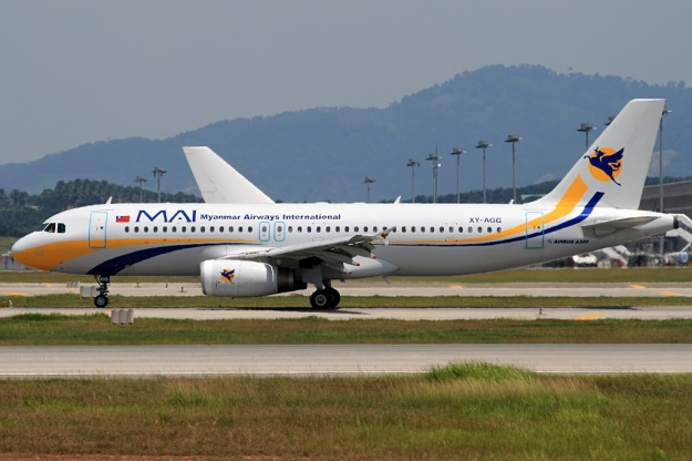 MAI-Myanmar Airways International A320-200 XY-AGG (09)(Grd) KUL (WTL)(LR)