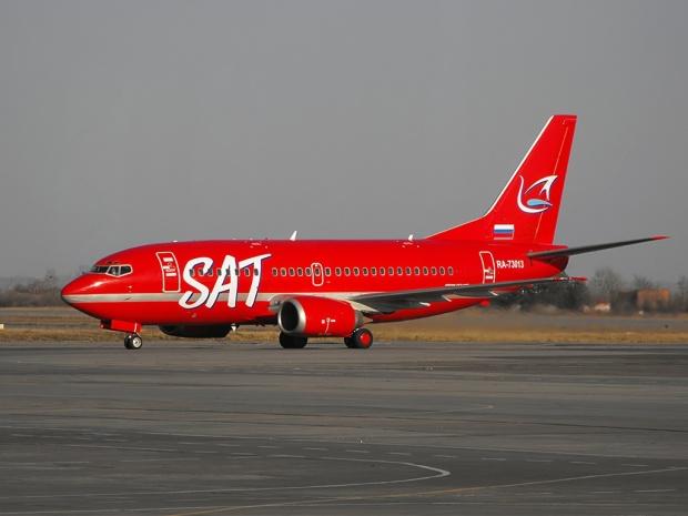 SAT 737-500 RA-73013 (Sterling CS)(Grd) KHV (VGK)(LR)