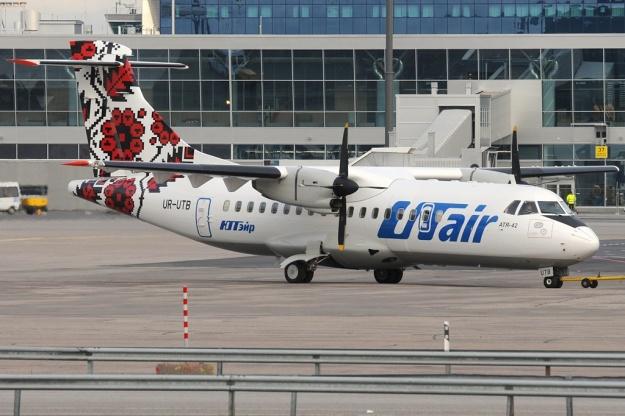 UTair (Ukraine) ATR 42-300 UR-UTB (09)(Grd) HEL (HK)(LR)