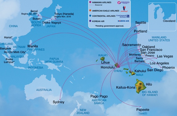 World Airline Route Map http://worldairlinenews.com/tag/hawaiian-airlines/