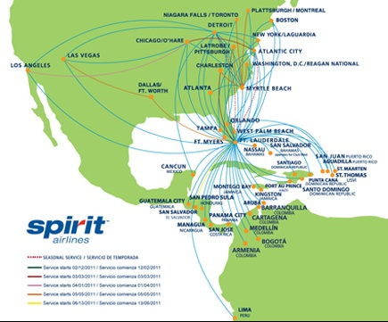 Spirit airlines to enter the las vegas los angles market for Spirit airlines one way