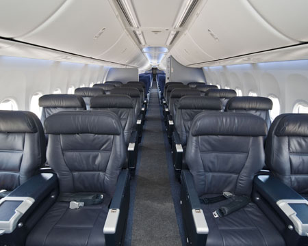 Continental Becomes The First U S Airline To Operate The Boeing 737 900 Er Sky Interior World Airline News