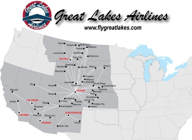 great lakes aviation route map Great Lakes Airlines World Airline News Page 2 great lakes aviation route map