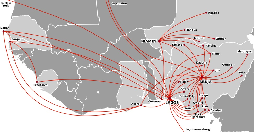 Tam Airlines Route Map