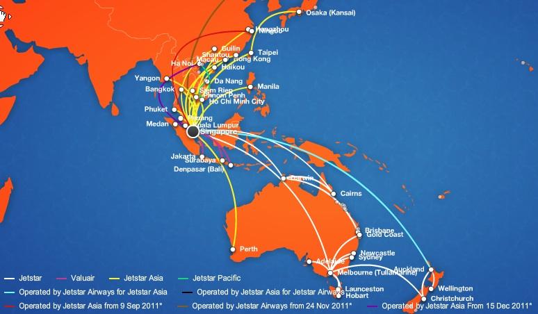 Jetstar Asia Airways Expands The Singapore Hub World