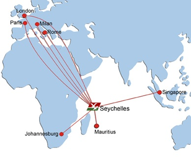 Air Seychelles World Airline News Page - Seychelles map world