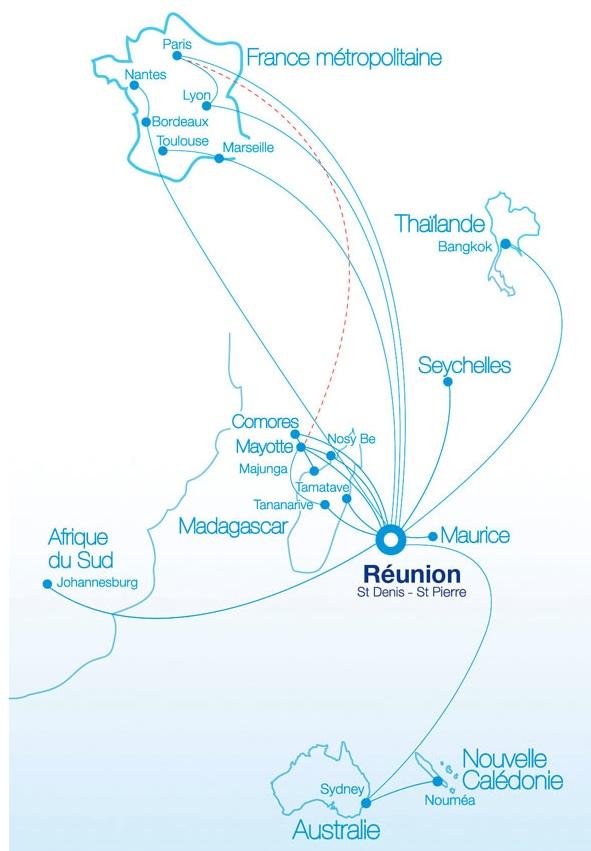 Air Austral 2011 Route Map