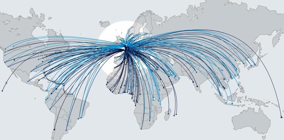 AIR FRANCE ROUTE MAP - Recana Masana