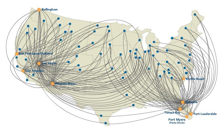 Allegiant Air Route Map Allegiant Air Route Map   DANIELELINA Allegiant Air Route Map
