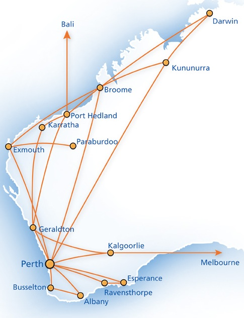 Skywest airlines australia world airline news skywest airlines route map click to enlarge click sciox Images