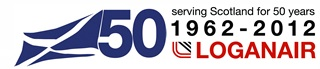Flybe-Loganair 50 Years logo
