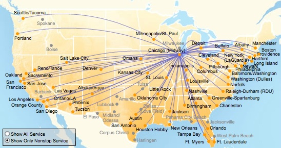 Southwest Airlines to introduce the new Boeing 737800 on April 11 – Southwest Airlines Travel Map