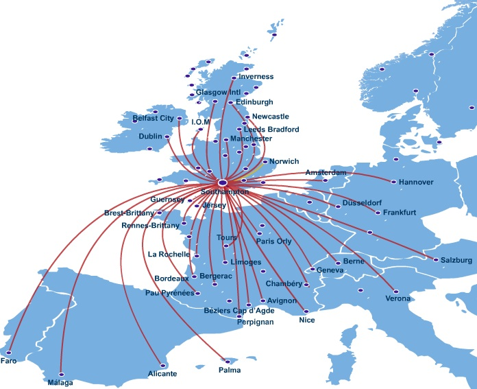 Flybe Route Map flybe.| World Airline News