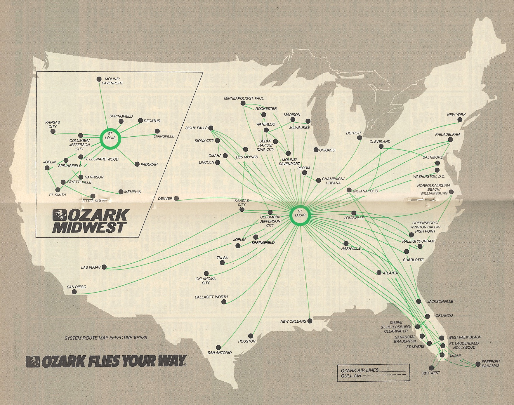 Ozark Airlines World Airline News - Us air hubs map