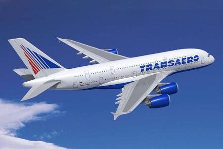 Transaero A380-800 (03)(Flt)(Airbus)(LRW)