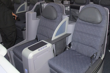 ... at United A... United Airlines 777 Interior