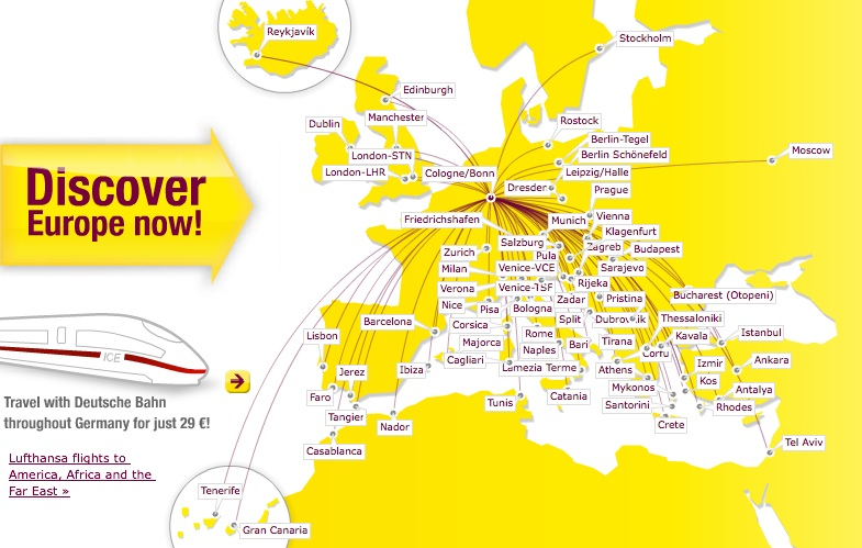 Germanwings 2nd World Airline News Page 5: Lufthansa Route Map Europe At Infoasik.co