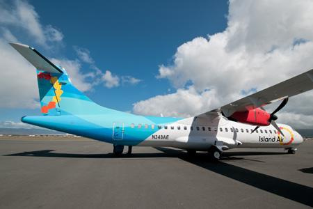 Island Air (Hawaii) ATR 72-200 N348AE (N941WP)(12)(Grd) HNL (IN)(LRW)