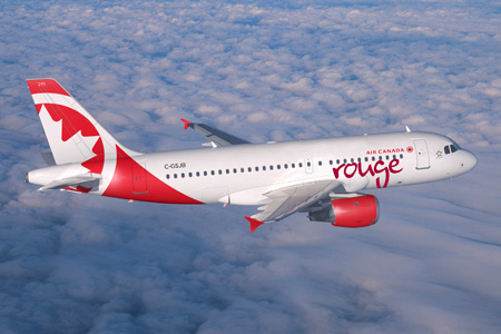 dcdc54691309 Air Canada paints the first Airbus A319 for Air Canada rouge