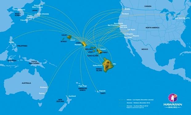 Hawaiian 12:2012 Route Map