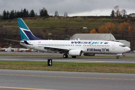 WestJet 737-800 WL N1781B (C-GAWS)(95-100 737NG)(Grd) BFI (RKS)(LRW)