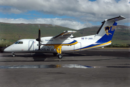 Flugfelag Islands (Air Iceland) DHC-8-100 TF-JMB (NC)(Grd) AEY (MDS)(LRW)