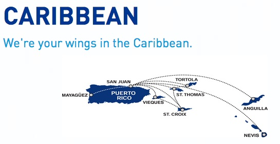 Cape Air Caribbean 2:2013 Route Map