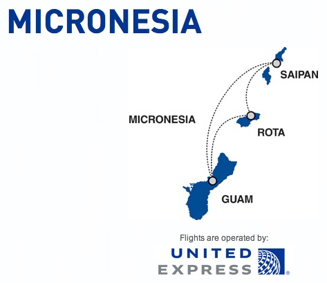 Cape Air-United Express Micronesia 2:2013 Route Map