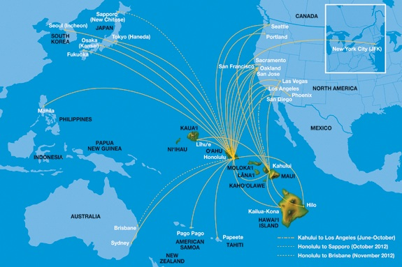 Hawaiian airlines is coming to sendai japan world airline news hawaiian 22013 route map gumiabroncs Gallery