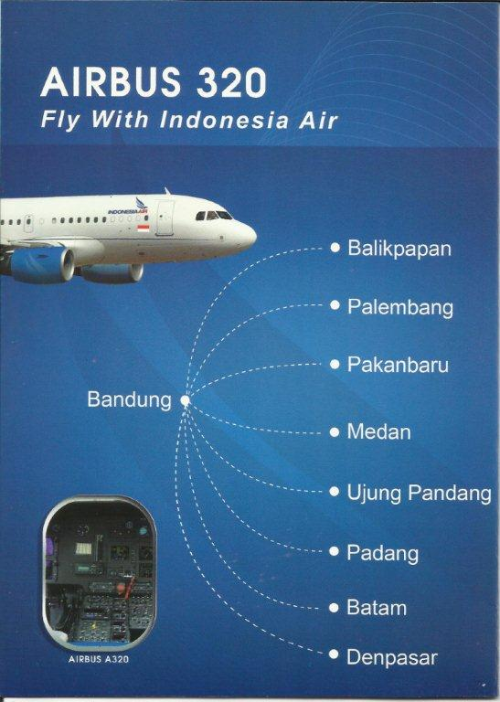 Indonesia Air A320 Routes