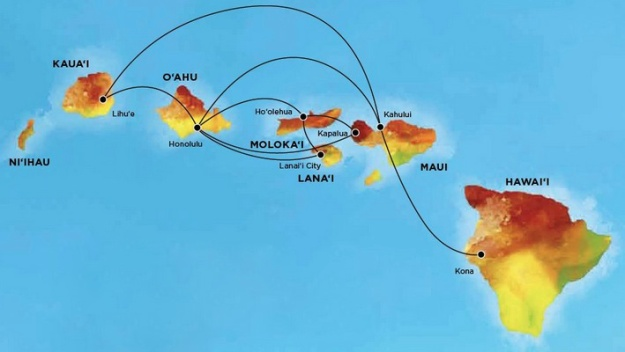 Island Air (Hawaii) 2-2013 Route Map