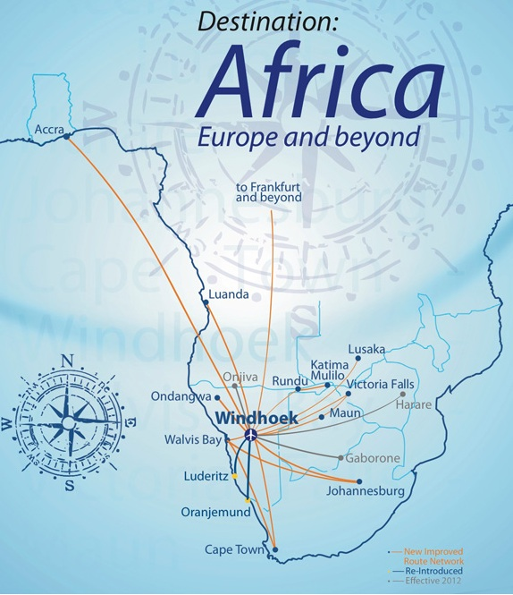 Air Namibia 3:2013 Route Map