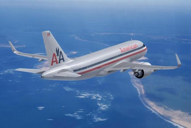 American A319neo (68)(Flt)(Airbus)(LR)