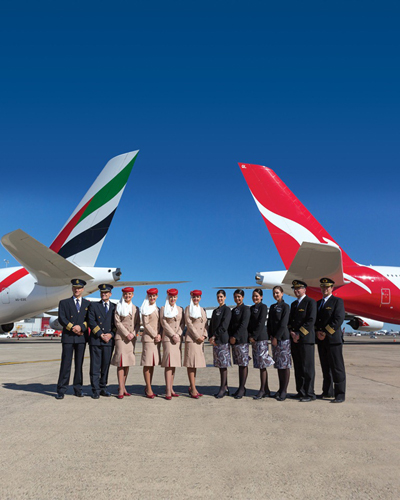 Emirates-QANTAS Tails and Crews